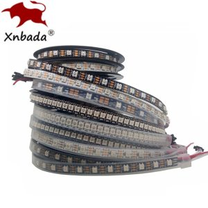 1m 2m 3m 4m 5m WS2812B WS2812 Led Strip Individually Addressable Smart RGB Led Strip Black Innrech Market.com