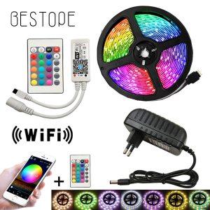 5050 LED Strip WIFI RGB RGBW RGBWW 5M 10M 15M RGB Led Color Changeable Flexible LED Innrech Market.com