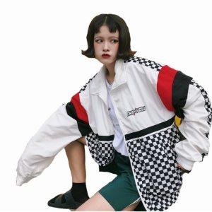 5601 Summer Sunscreen Windbreaker Women Korean Fashion Thin Coat School Harajuku Baseball Hip Hop Jacket Innrech Market.com