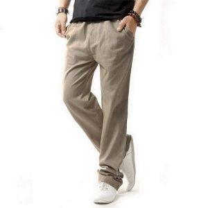 5XL Anti Microbial Healthy Linen Pants Men 2019 Summer Breathable Slim Flax Trousers Male Boys Hemp Innrech Market.com