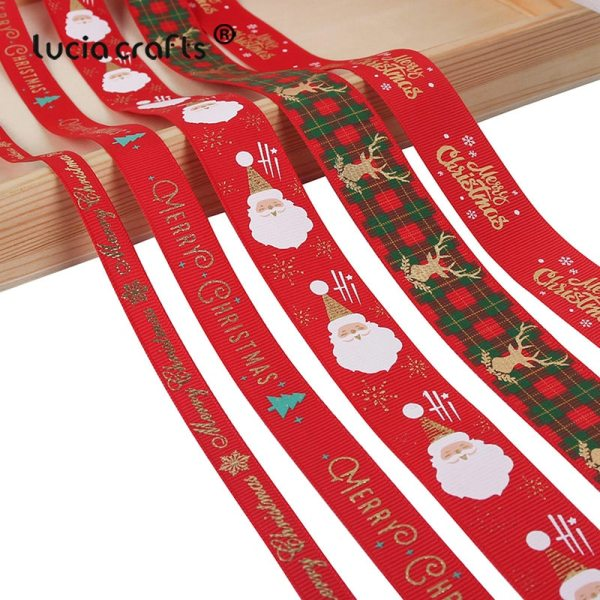 5yards lot 10mm 15mm 25mm Polyester Printing Christmas Grosgrain Ribbons DIY Xmas Party Wrapping Decor Supplies 5yards/lot 10mm/15mm/25mm Polyester Printing Christmas Grosgrain Ribbons DIY Xmas Party Wrapping Decor Supplies Material X0203