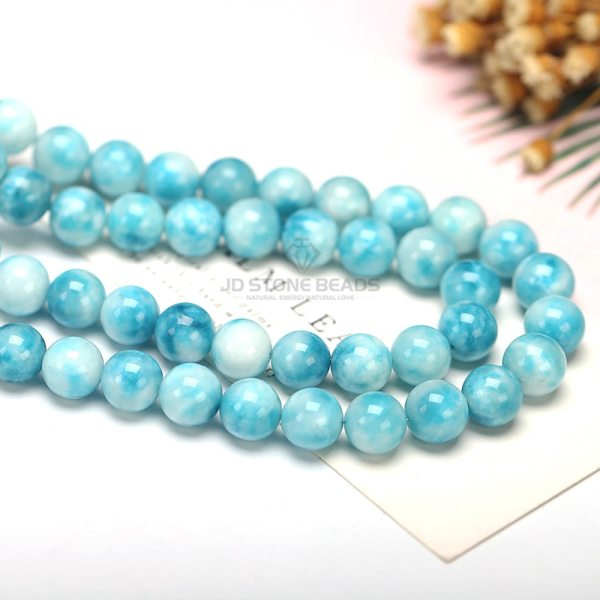 6 8 10 12MM Larimar gemstone Round Loose beads Matte Ocean Sea stone bracelet necklace for 2 6 8 10 12MM Larimar gemstone Round Loose beads Matte Ocean Sea stone bracelet necklace for jewelry Making