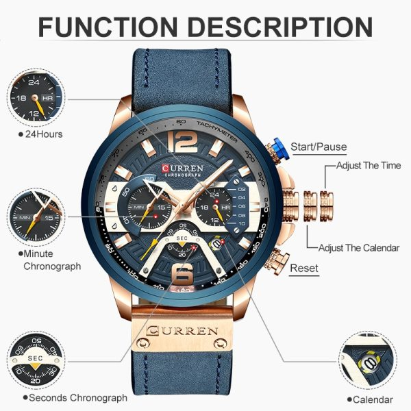 CURREN Luxury Brand Men Analog Leather Sports Watches Men s Army Military Watch Male Date Quartz 2 CURREN Luxury Brand Men Analog Leather Sports Watches Men's Army Military Watch Male Date Quartz Clock Relogio Masculino 2019