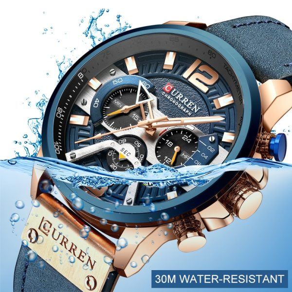 CURREN Luxury Brand Men Analog Leather Sports Watches Men s Army Military Watch Male Date Quartz 5 CURREN Luxury Brand Men Analog Leather Sports Watches Men's Army Military Watch Male Date Quartz Clock Relogio Masculino 2019