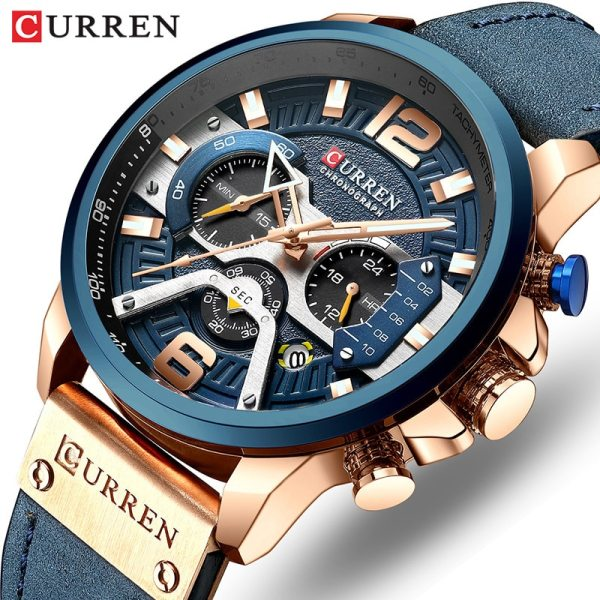 CURREN Luxury Brand Men Analog Leather Sports Watches Men s Army Military Watch Male Date Quartz CURREN Luxury Brand Men Analog Leather Sports Watches Men's Army Military Watch Male Date Quartz Clock Relogio Masculino 2019