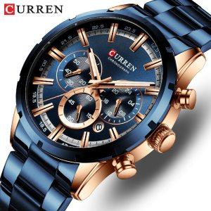 CURREN Men Watch Top Brand Luxury Sports Quartz Mens Watches Full Steel Waterproof Chronograph Wristwatch Men Innrech Market.com