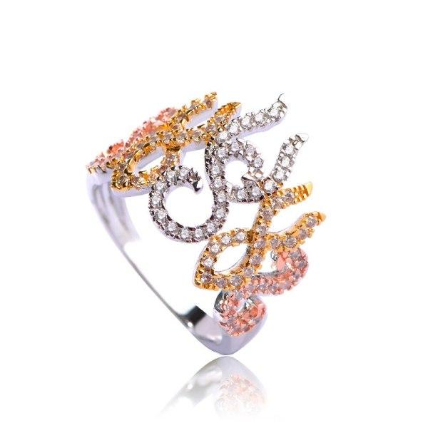 Dazz Flower Shape Choker Necklace Bracelet Earrings Ring Brass Three Tones Colors Sets Women Girls Wedding 3 Dazz Flower Shape Choker Necklace Bracelet Earrings Ring Brass Three Tones Colors Sets Women Girls Wedding Ornament Jewelry Set