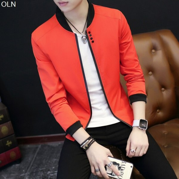 Fall 2019 pure color collar jacket type teenagers cultivate one s morality Casual jacket Fall 2019 pure color collar jacket type teenagers cultivate one's morality Casual jacket