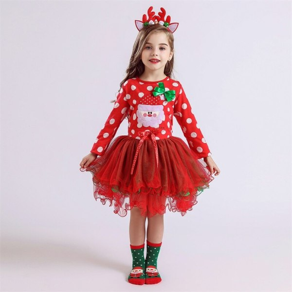 Fancy New Year Baby Girl Carnival Santa Dress For Girls Summer Minnie Mouse Holiday Children Clothing 2 Fancy New Year Baby Girl Carnival Santa Dress For Girls Summer Minnie Mouse Holiday Children Clothing Party Tulle Kids Costume