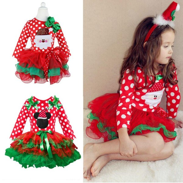 Fancy New Year Baby Girl Carnival Santa Dress For Girls Summer Minnie Mouse Holiday Children Clothing Fancy New Year Baby Girl Carnival Santa Dress For Girls Summer Minnie Mouse Holiday Children Clothing Party Tulle Kids Costume