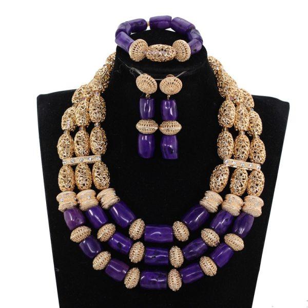 Gorgeous Original Purple Coral African Beads Jewelry Set Nigerian Brides Purple Wedding Jewelry Neckpiece Set CNR041 Gorgeous Original Purple Coral African Beads Jewelry Set Nigerian Brides Purple Wedding Jewelry Neckpiece Set CNR041