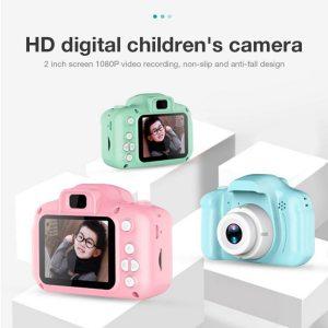 HD Screen Chargable Camera Outdoor Digital Mini Camera Kids Cartoon Cute Camera 2 Inch Photography Props Innrech Market.com