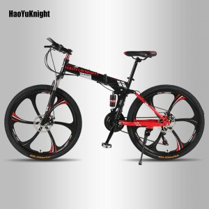 HaoYuKnight Bicycle mountain bike 21 speed off road male and female adult students one spokes wheel Innrech Market.com