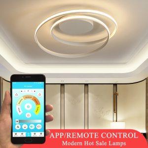 Hot Sale Modern LED Ceiling Lights For Living Room Bedroom Dining Room Luminaires White Black Ceiling Innrech Market.com