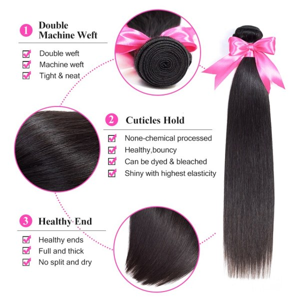 ISEE HAIR Brazilian Straight Hair Bundles With Frontal 13 4 Lace Frontal With Bundles Remy Human 1 ISEE HAIR Brazilian Straight Hair Bundles With Frontal 13*4 Lace Frontal With Bundles Remy Human Hair Bundles With Frontal