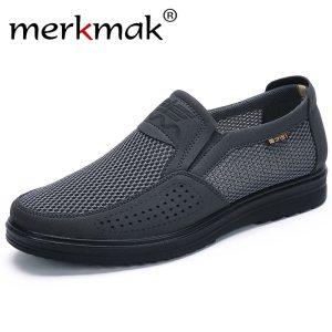 Merkmak 38 48 Men S Casual Shoes Men Summer Style Mesh Flats For Men Loafer Creepers Innrech Market.com
