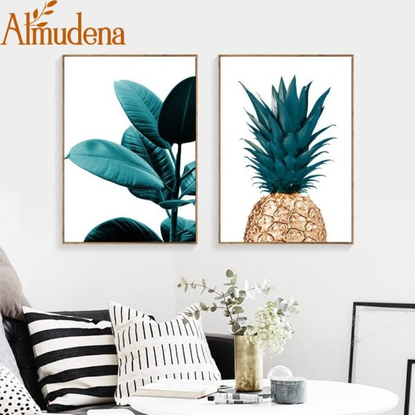 Nordic Pineapple Green Leaves Canvas Painting Wall Art Poster Home Decoration Posters And Prints Plant Pictures 3 Nordic Pineapple Green Leaves Canvas Painting Wall Art Poster Home Decoration Posters And Prints Plant Pictures for Living Room
