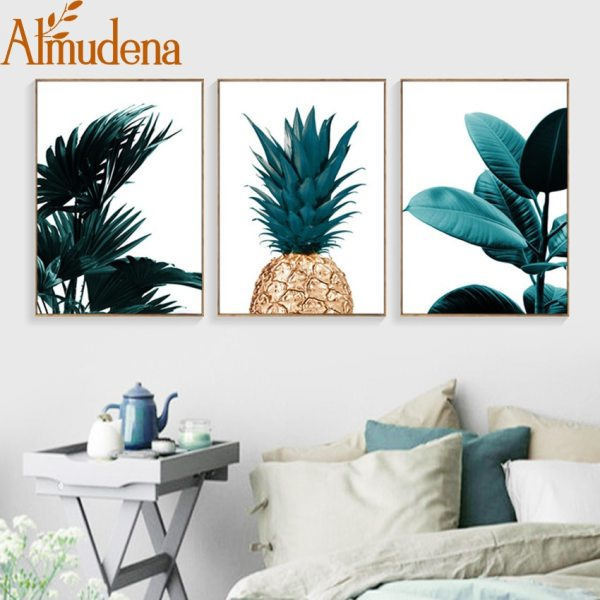 Nordic Pineapple Green Leaves Canvas Painting Wall Art Poster Home Decoration Posters And Prints Plant Pictures Nordic Pineapple Green Leaves Canvas Painting Wall Art Poster Home Decoration Posters And Prints Plant Pictures for Living Room