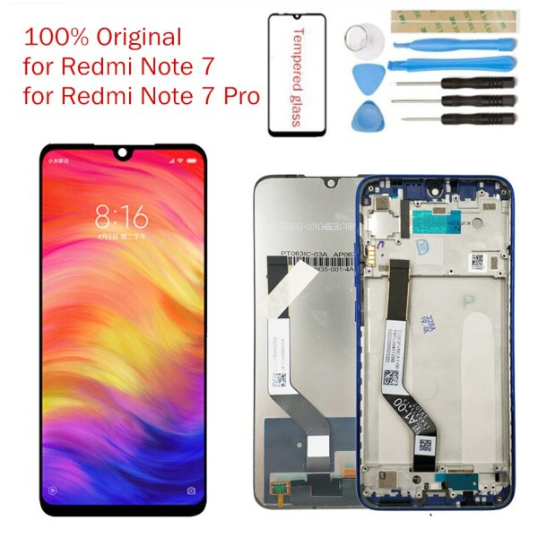 Original for Xiaomi Redmi Note 7 LCD Display Screen Touch Digitizer Assembly Redmi Note7 Pro LCD Original for Xiaomi Redmi Note 7 LCD Display Screen Touch Digitizer Assembly Redmi Note7 Pro LCD Display 10 Touch Repair Parts