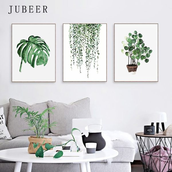 Scandinavian Style Tropical Plants Poster Green Leaves Decorative Picture Modern Wall Art Paintings for Living Room 3 Scandinavian Style Tropical Plants Poster Green Leaves Decorative Picture Modern Wall Art Paintings for Living Room Home Decor