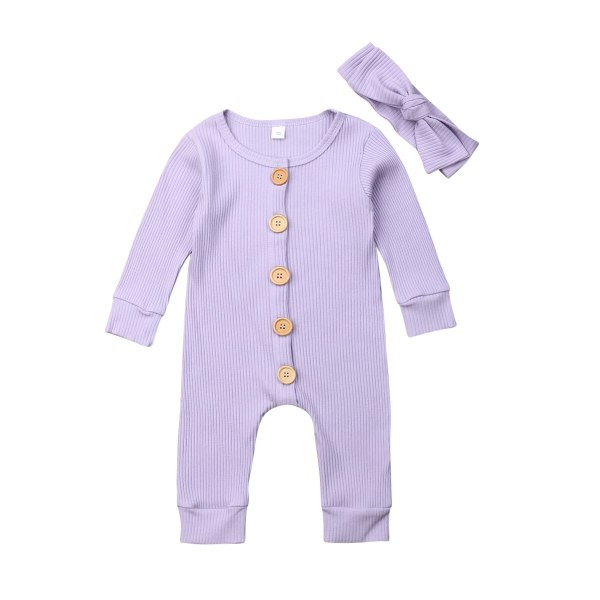 Spring Fall Newborn Baby Girl Boy Clothes Long Sleeve Knitted Romper Headband Jumpsuit 2PCS Outfit 0 4 Spring Fall Newborn Baby Girl Boy Clothes Long Sleeve Knitted Romper + Headband Jumpsuit 2PCS Outfit 0-24M