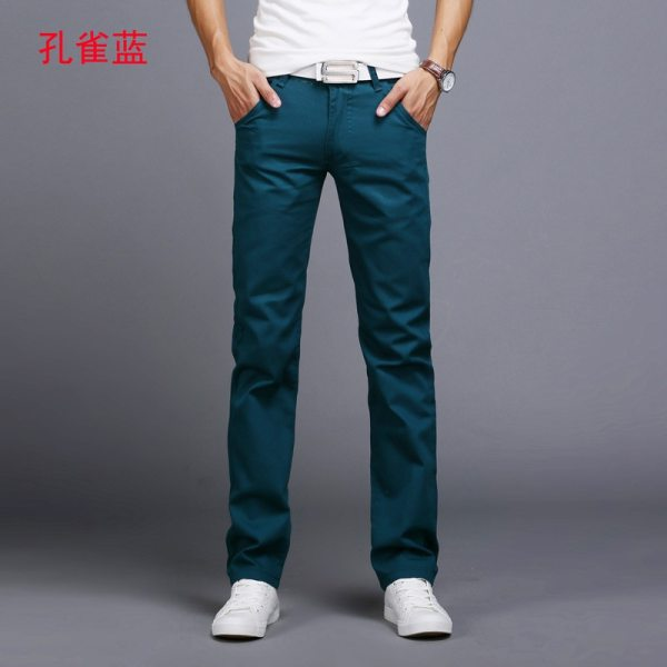 TANGYAXUAN New Design Casual Men pants Cotton Slim Pant Straight Trousers Fashion Business Solid Khaki Black 3 TANGYAXUAN New Design Casual Men pants Cotton Slim Pant Straight Trousers Fashion Business Solid Khaki Black Pants Men 28-38