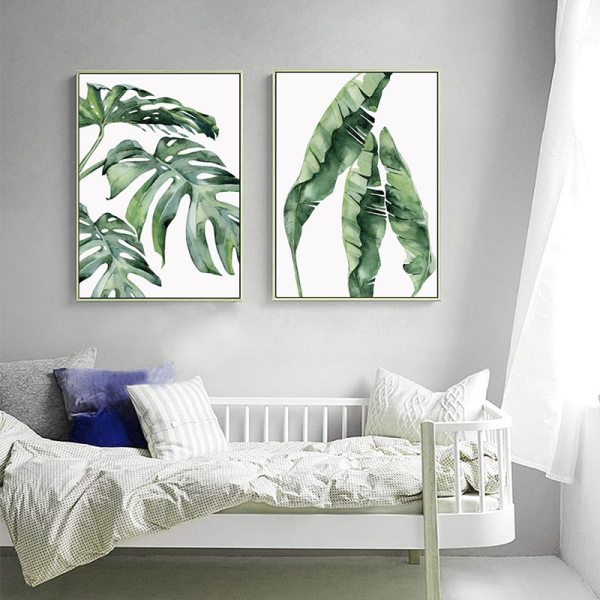 Watercolor Plant Green Leaves Canvas Painting Art Print Poster Picture Wall Modern Minimalist Bedroom Living Room 3 Watercolor Plant Green Leaves Canvas Painting Art Print Poster Picture Wall Modern Minimalist Bedroom Living Room Decoration