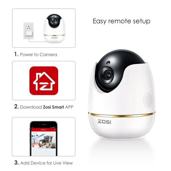 ZOSI 1080P HD Wifi Wireless Home Security IP Camera 2 0MP IR Network CCTV Surveillance Camera 4 ZOSI 1080P HD Wifi Wireless Home Security IP Camera 2.0MP IR Network CCTV Surveillance Camera with Two-way Audio Baby Monitor