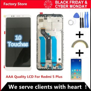 10 Touch AAA Quality LCD Frame For Xiaomi Redmi 5 Plus LCD Display Screen Replacement For Innrech Market.com