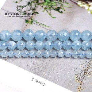 4 6 8 10 12 mm Natural Aquamarine loose Beads Free Shipping Faceted Blue Pick Szie Innrech Market.com