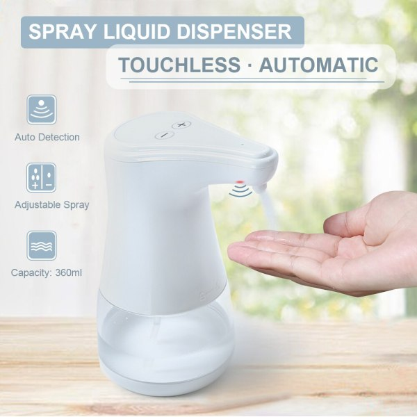 Automatic Alcohol Spray Dispenser Touchless Alcohol Sanitizer Disinfectant Liquid Sope Dispensers IR Sensor Bottle for Bathroom Automatic Alcohol Spray Dispenser Touchless Alcohol Sanitizer Disinfectant Liquid Sope Dispensers IR Sensor Bottle for Bathroom