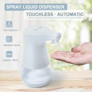 Automatic Alcohol Spray Dispenser Touchless Alcohol Sanitizer Disinfectant Liquid Sope Dispensers IR Sensor Bottle for Bathroom Innrech Market.com