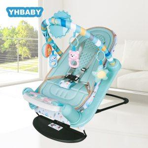 Baby Rocking Chair Newborn Electric Toy Fitness Frame Children Music Folding Swing Multifunction Comfortable Recliner Rattle Innrech Market.com