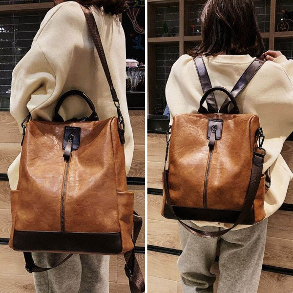 Fashion Women High Quality Leather Backpack Multifunction Leatherett Backpack For Female Big Bookbag Travel Bag Sac 1 Fashion Women High Quality Leather Backpack Multifunction Leatherett Backpack For Female Big Bookbag Travel Bag Sac A Dos XA279H