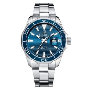 LONGBO Quartz Watches Men Popular Brand Sports Wristwatches Business Stainless Steel Waterproof Clock Relogio Masculino Innrech Market.com