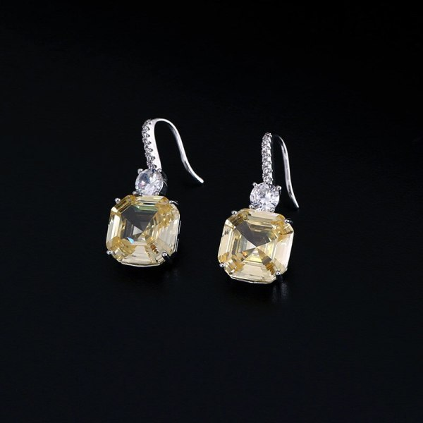 Luxury brilliant Yellow and Clear zirconia waterdrop and cirrus fashion style wedding bridal earring necklace jewelry 2 Luxury brilliant Yellow and Clear zirconia waterdrop and cirrus fashion style wedding bridal earring necklace jewelry sets