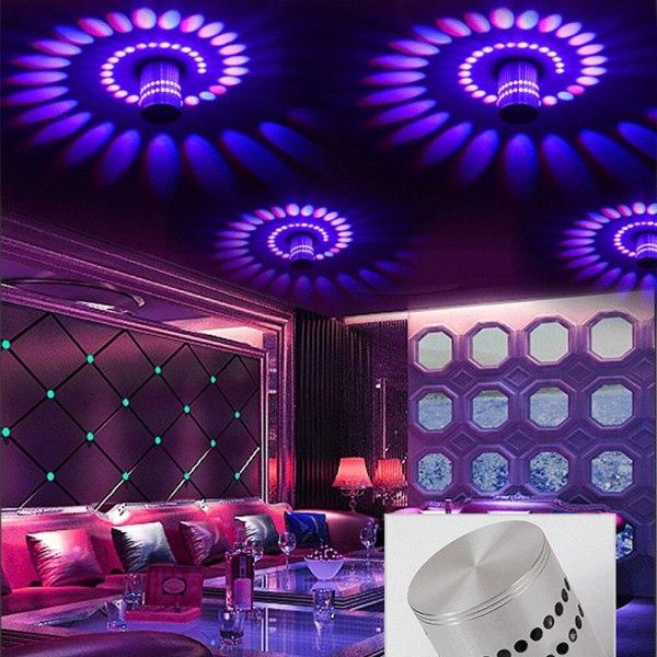 Modern LED Ceiling Light 3W RGB Porch Lamp Surface Mount Flush Lighting Fixture Balcony Corridors Living Modern LED Ceiling Light 3W RGB Porch Lamp Surface Mount Flush Lighting Fixture Balcony Corridors Living Room Decor