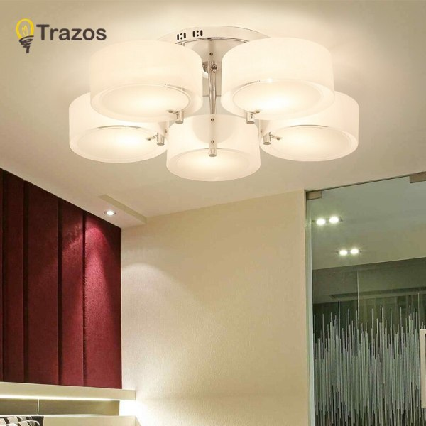 NEW 2019 Modern Ceiling Lights modern fashionable design dining room lamp pendente de teto de cristal NEW 2019 Modern Ceiling Lights modern fashionable design dining room lamp pendente de teto de cristal white shade acrylic lustre