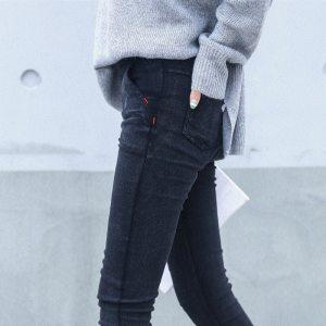 New 2018 Washed Women Imitation Jeans Mujer Stretch Cotton Denim Pants Trousers Boyfriend Big Size Skinny Innrech Market.com