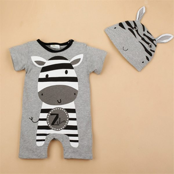 Newborn baby cotton rompers lovely Rabbit ears baby boy girls short sleeve baby costume Jumpsuits Roupas 4 Newborn baby cotton rompers lovely Rabbit ears baby boy girls short sleeve baby costume Jumpsuits Roupas Bebes Infant Clothes