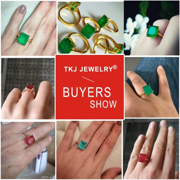 TKJ Real 925 Silver Ring Square Ruby and Emerald Ring Wedding Engagement Rings For Women Fine 5 TKJ Real 925 Silver Ring Square Ruby and Emerald Ring Wedding Engagement Rings For Women Fine Jewelry Accessories Gifts