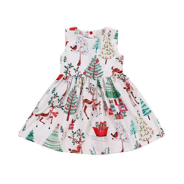 1 7Years Christmas Dress Kids Baby Girl Deer Sleeveless Party Dress Princess Tutu Dress Xmas New 1-7Years Christmas Dress Kids Baby Girl Deer Sleeveless Party Dress Princess Tutu Dress Xmas New Fashion Clothing