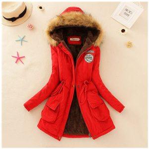 2019 Winter New Women s Hooded Fur Collar Waist And Velvet Thick Warm Long Cotton Coat Innrech Market.com