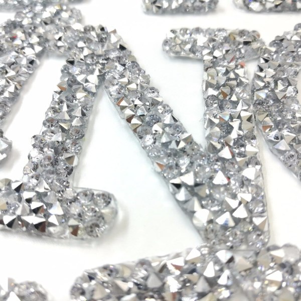 A Z 1PC Rhinestone English Alphabet Letter Mixed Embroidered Iron On Patch For Clothing Badge Paste 1 A-Z 1PC Rhinestone English Alphabet Letter Mixed Embroidered Iron On Patch For Clothing Badge Paste For Clothes Bag Pant shoes