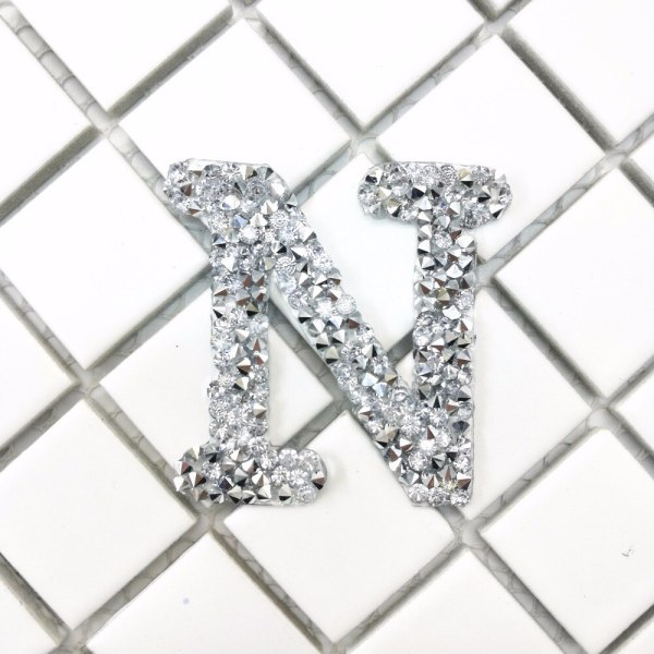A Z 1PC Rhinestone English Alphabet Letter Mixed Embroidered Iron On Patch For Clothing Badge Paste 3 A-Z 1PC Rhinestone English Alphabet Letter Mixed Embroidered Iron On Patch For Clothing Badge Paste For Clothes Bag Pant shoes