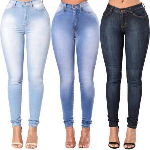 High Quality Fashion Women High Waist Elastic Skinny Jeans Slim Fit Washed Denim Cowboy Streetwear Long Innrech Market.com