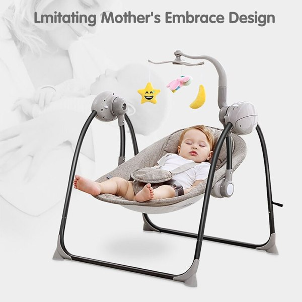 IMBABY Baby Rocking Chair Baby Swing Electric Baby Cradle With Remote Control Cradle Rocking Chair For 3 IMBABY Baby Rocking Chair Baby Swing Electric Baby Cradle With Remote Control Cradle  Rocking Chair For Newborns Swing Chair