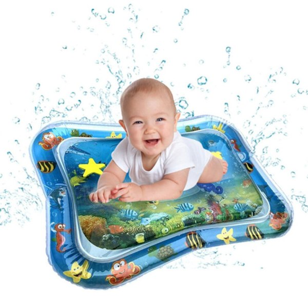 Inflatable Baby Water Mat Infant Tummy Time Playmat Toddler Fun Activity Play Center for Sensory Stimulation 1 Inflatable Baby Water Mat Infant Tummy Time Playmat Toddler Fun Activity Play Center for Sensory Stimulation, Motor Skills