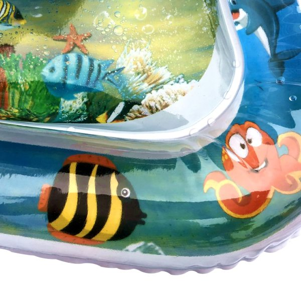 Inflatable Baby Water Mat Infant Tummy Time Playmat Toddler Fun Activity Play Center for Sensory Stimulation 3 Inflatable Baby Water Mat Infant Tummy Time Playmat Toddler Fun Activity Play Center for Sensory Stimulation, Motor Skills