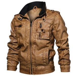 Men s Military Bomber Leather Jackets 2019 New Autumn Winter Thick Warm Tactical Pilot Multi Pocket Innrech Market.com